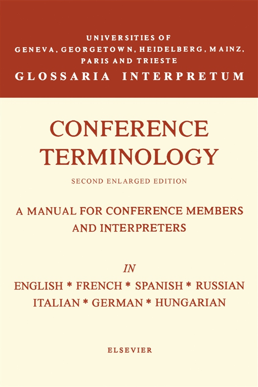 Conference Terminology