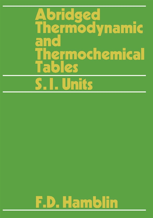 Abridged Thermodynamic and Thermochemical Tables