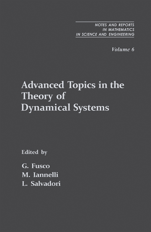 Advanced Topics in the Theory of Dynamical Systems