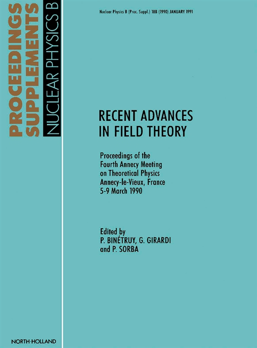 Recent Advances in Field Theory