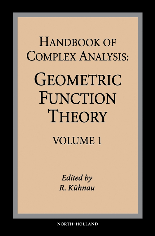 Handbook of Complex Analysis