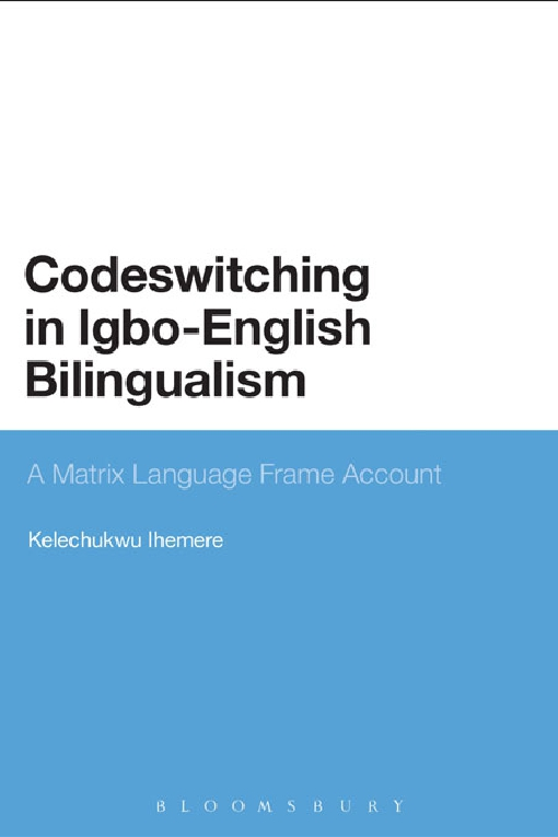 Codeswitching in Igbo-English Bilingualism
