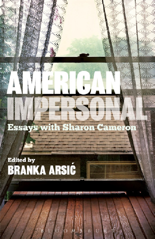 American Impersonal: Essays with Sharon Cameron