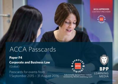 ACCA F4 Corporate and Business Law (Global) - Passcards