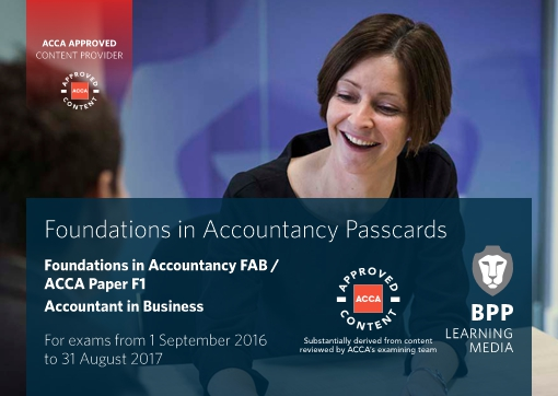 FIA Foundations of Accountant in Business FAB (ACCA F1) - Passcards