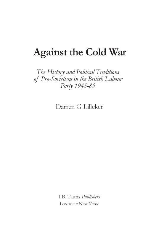 Against the Cold War