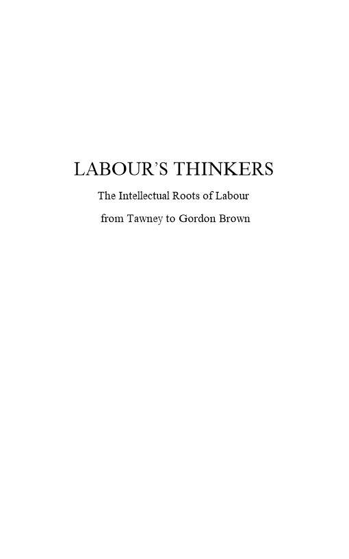 Labour's Thinkers