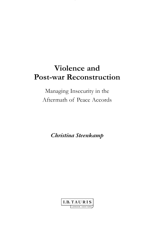 Violence and Post-war Reconstruction