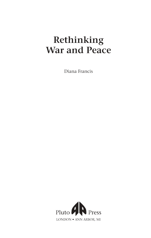 Rethinking War and Peace