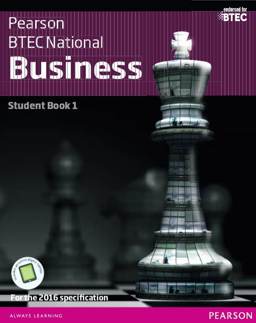 BTEC Nationals Business Student Book 1