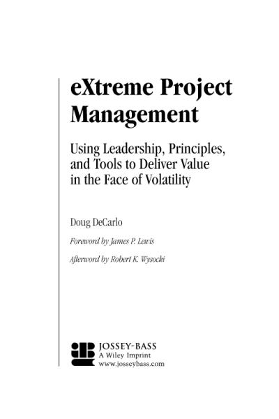 eXtreme Project Management