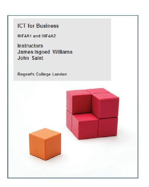 ICT for Business: INF4A1 and INF4A2