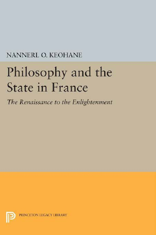 Philosophy and the State in France