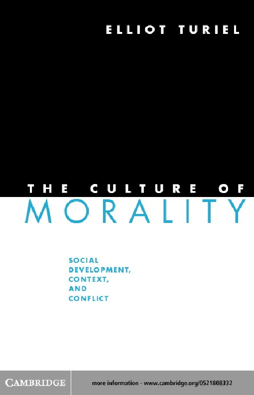 The Culture of Morality