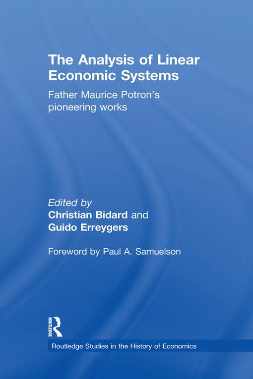 The Analysis of Linear Economic Systems