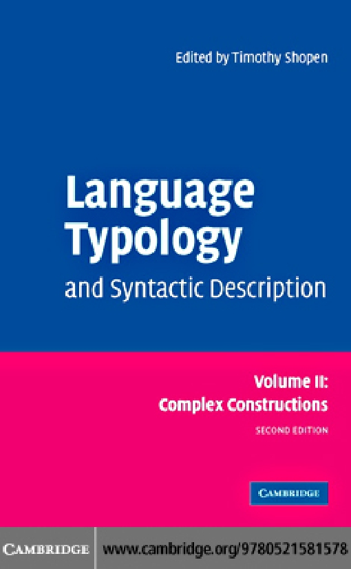 Language Typology and Syntactic Description: Volume 2, Complex Constructions