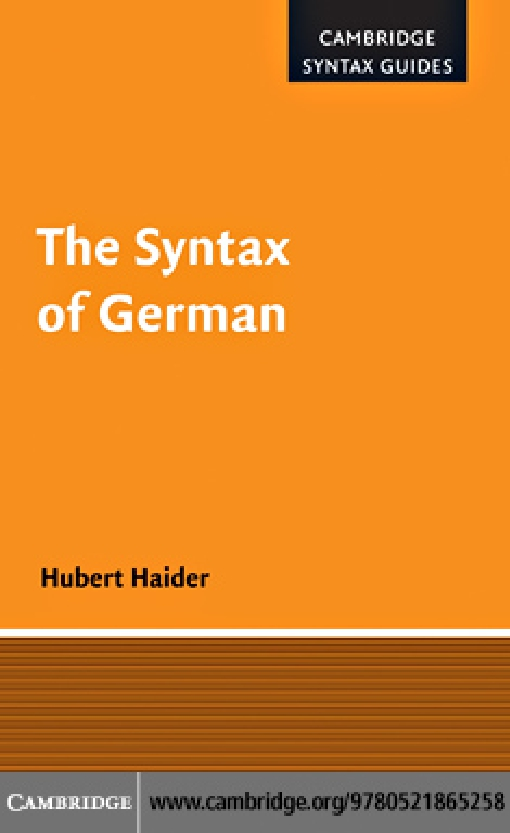 The Syntax of German