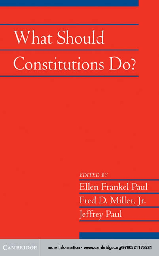 What Should Constitutions Do?