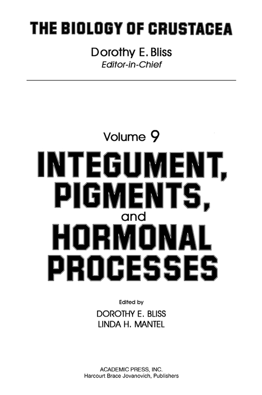 Integument, Pigments, and Hormonal Processes