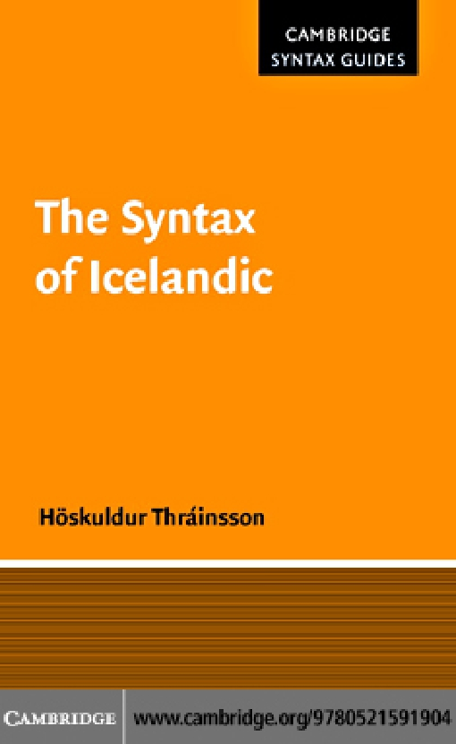 The Syntax of Icelandic