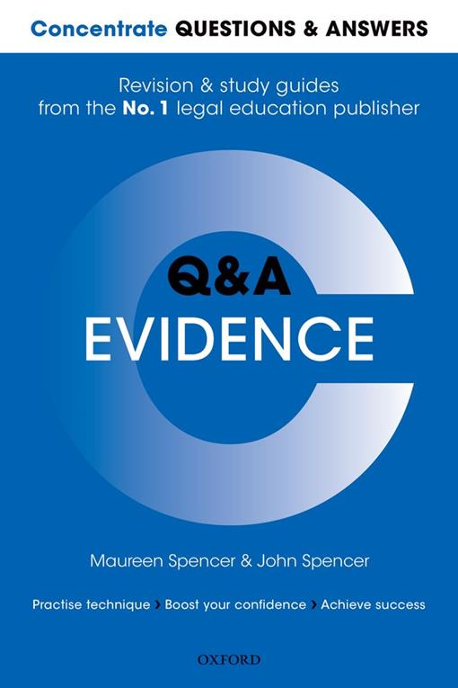 Concentrate Questions and Answers Evidence
