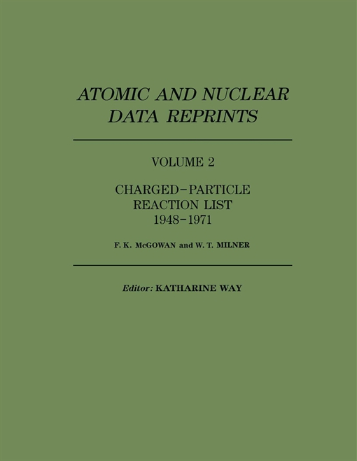 Charged–Particle Reaction List 1948–1971