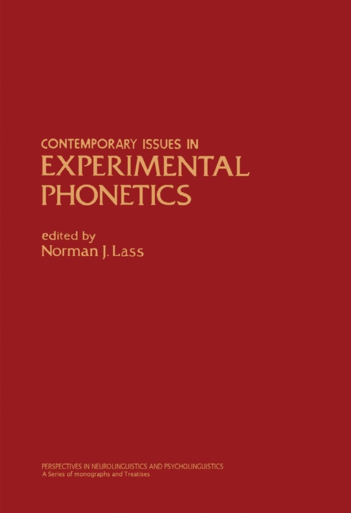 Contemporary Issues in Experimental Phonetics