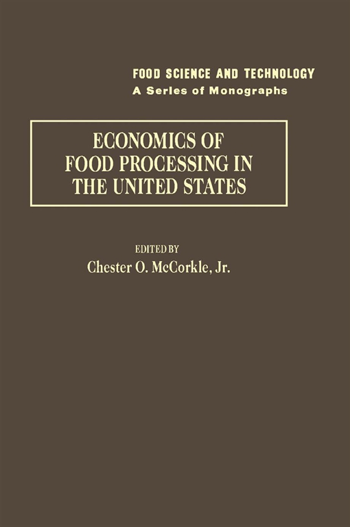 Economics of food processing in the United States