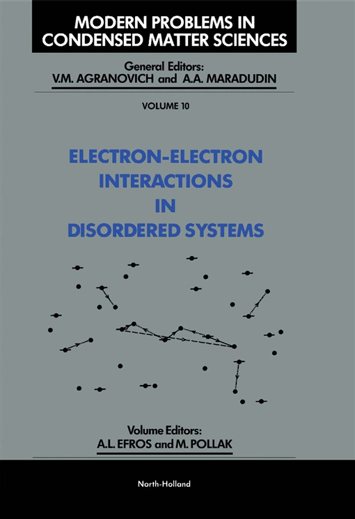Electron-Electron Interactions in Disordered Systems