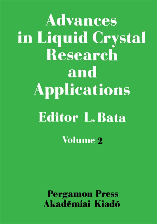 Advances in Liquid Crystal Research and Applications