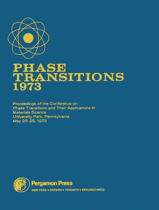 Phase Transitions - 1973