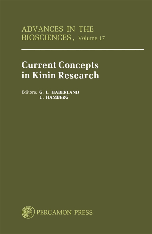 Current Concepts in Kinin Research