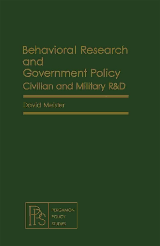 Behavioral Research and Government Policy