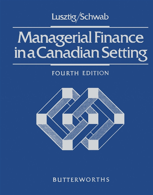Managerial Finance in a Canadian Setting
