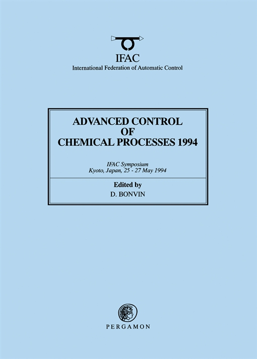 Advanced Control of Chemical Processes 1994