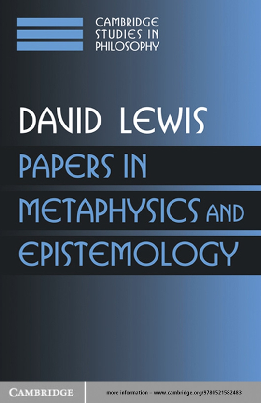 Papers in Metaphysics and Epistemology