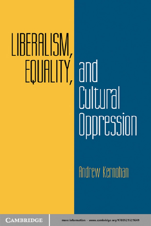 Liberalism, Equality, and Cultural Oppression