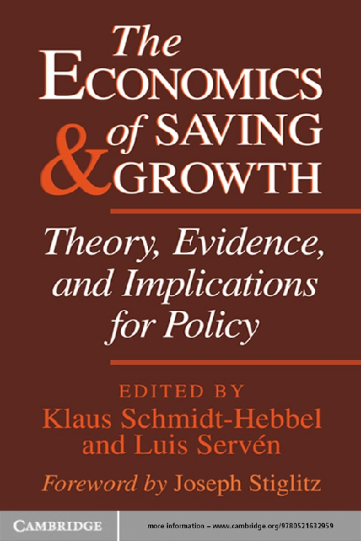 The Economics of Saving and Growth