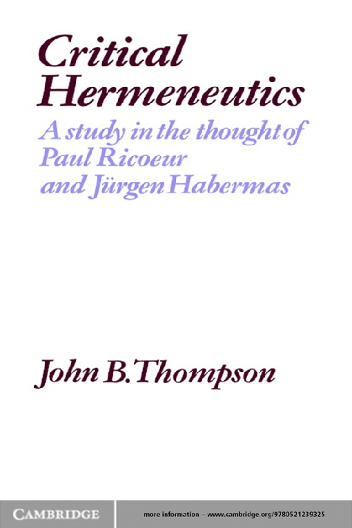 Critical Hermeneutics