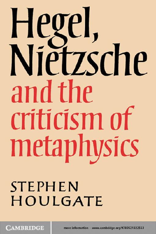 Hegel, Nietzsche and the Criticism of Metaphysics