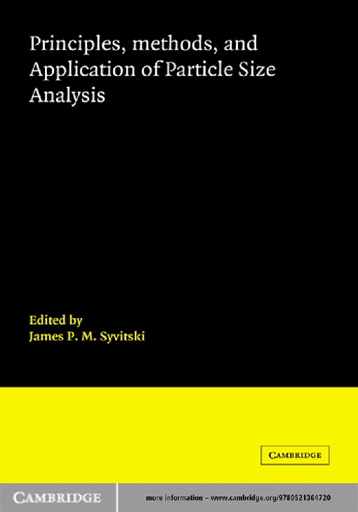 Principles, Methods and Application of Particle Size Analysis