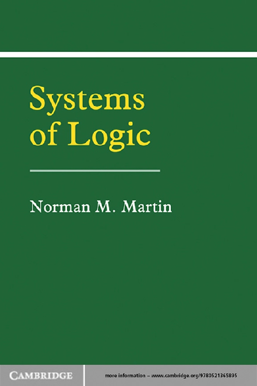 Systems of Logic
