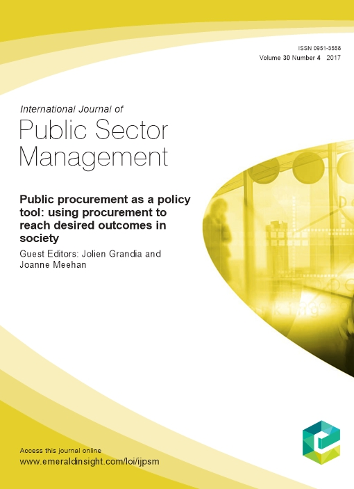Public procurement as a policy tool