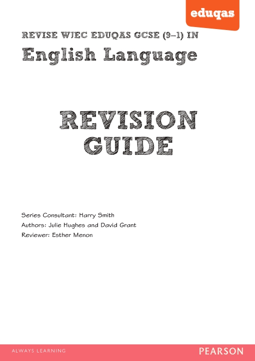 REVISE WJEC Eduqas GCSE in English Language Revision Guide