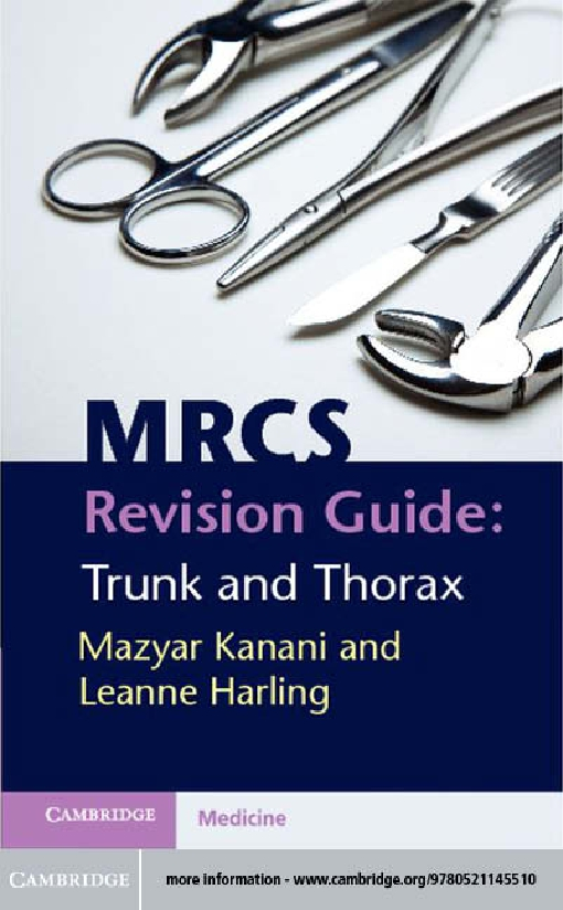 MRCS Revision Guide: Trunk and Thorax