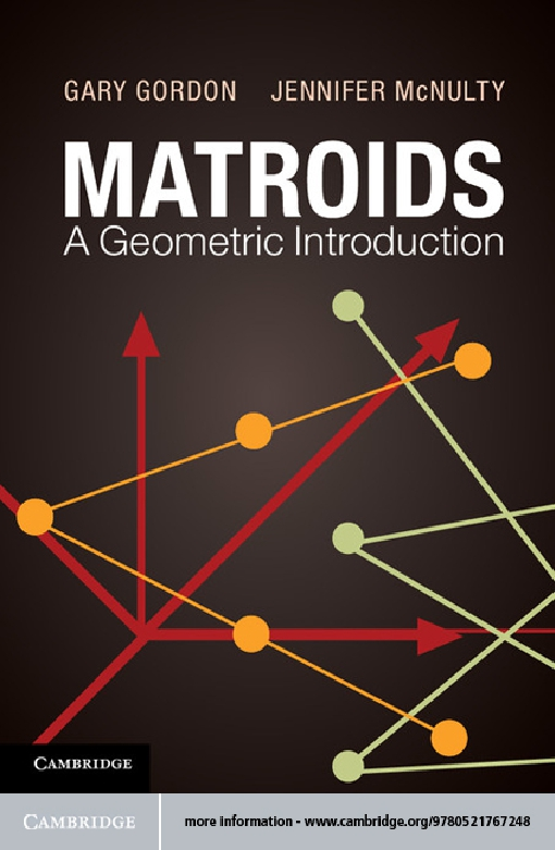 Matroids: A Geometric Introduction