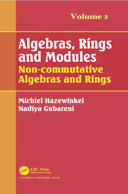Algebras, Rings and Modules, Volume 2