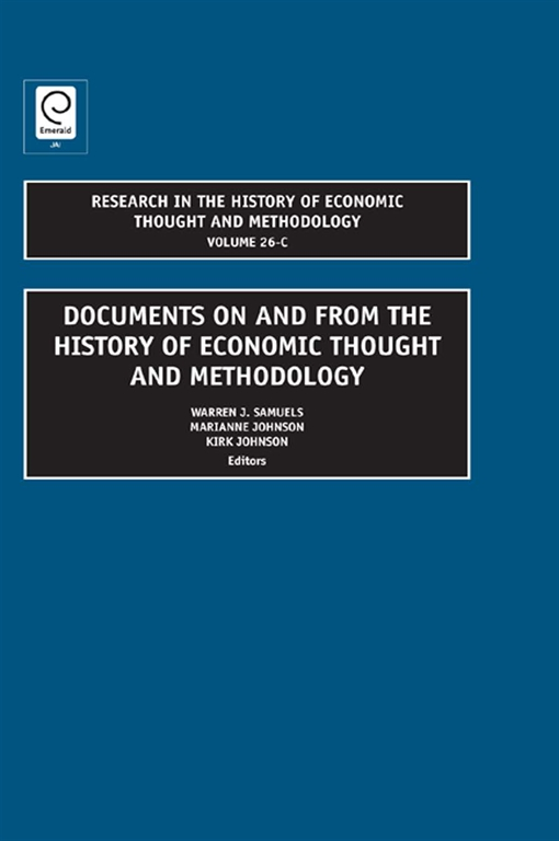 Documents on and from the History of Economic Thought and Methodology