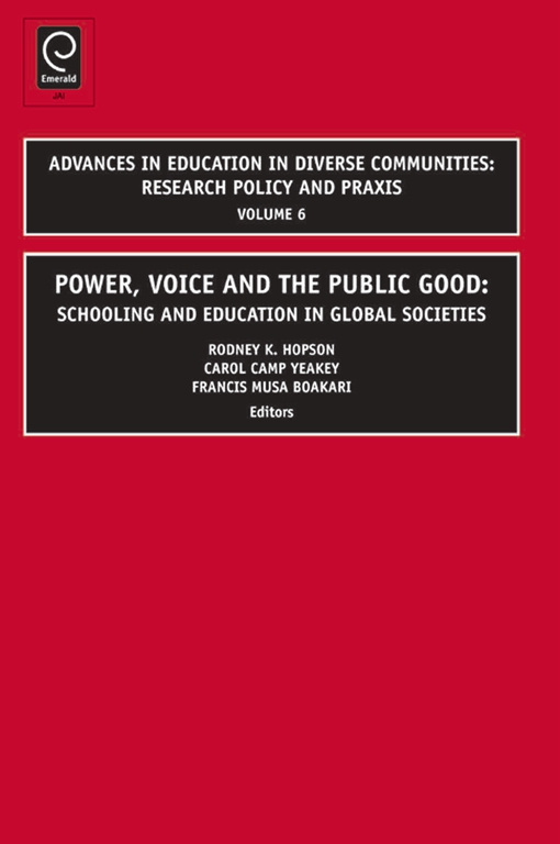 Power, Voice and the Public Good