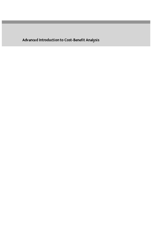 Advanced Introduction to Cost?Benefit Analysis